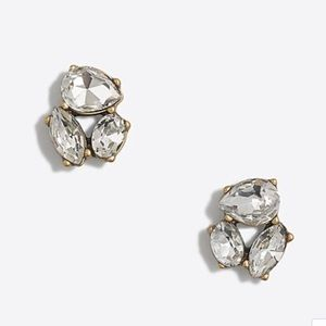 J. Crew Crystal Trio Earrings - new